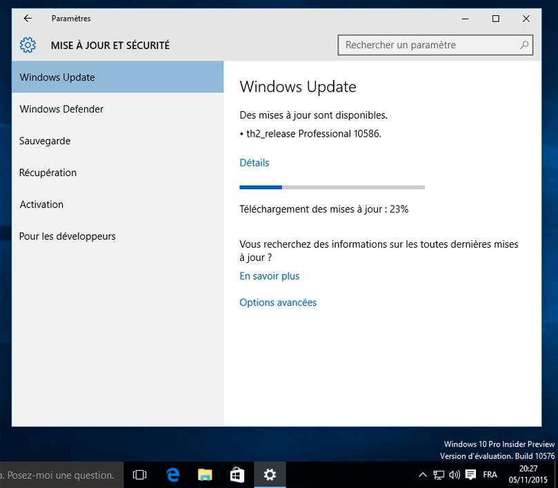Supprimer Windows  Professionnel Build