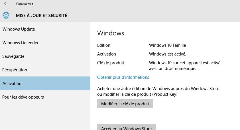 migration vers windows 10 depuis windows 7 version boite. Black Bedroom Furniture Sets. Home Design Ideas