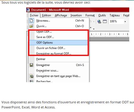 Impossible d 39 ouvrir fichier odt sous word 2007 - Ouvrir un document word avec open office ...