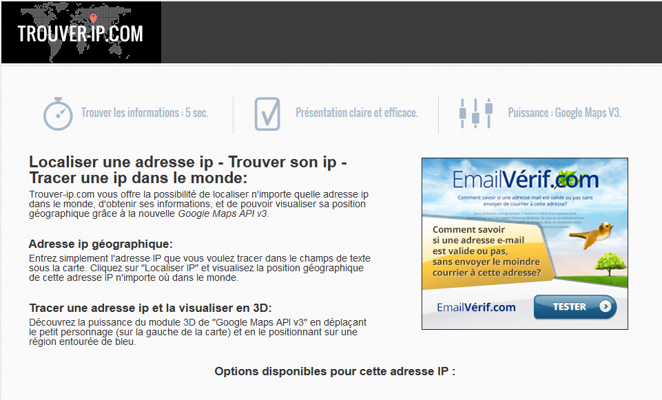 Verification Adresse Mail