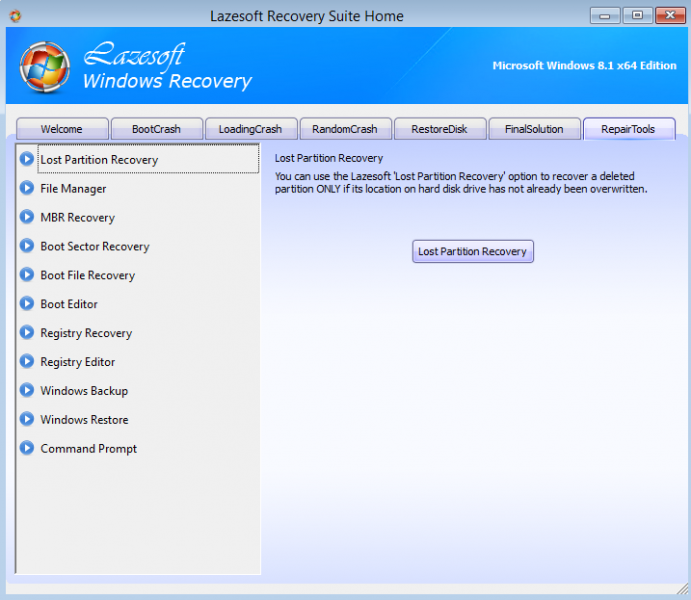 Lazesoft recovery suite 3 5 1 unlimited edition bootcd rar