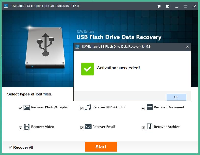 Phần mềm khôi phục dữ liệu từ ổ cứng và USB IUWEshare USB Flash Drive Data Recovery