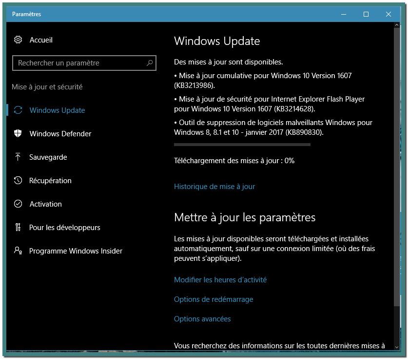 Mise A Jour Windows 10 Kb3213986 Ne S Installe Pas Resolu