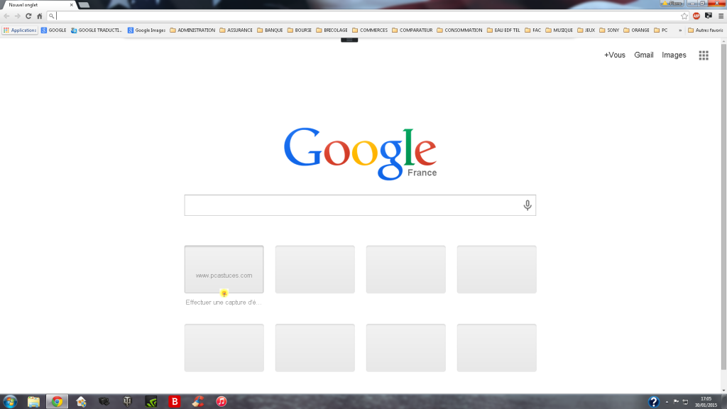 Google Chrome Page D Accueil