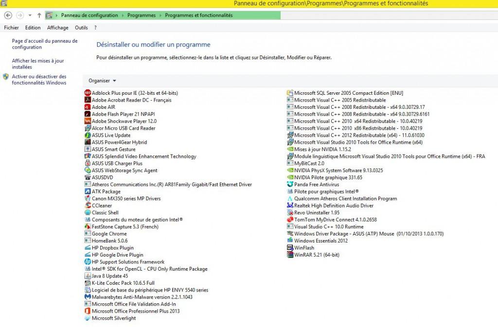 test Office 2010 ne désinstalle pas
