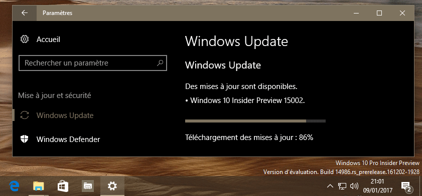 Windows 10 Insider Preview : Builds, Updates et infos