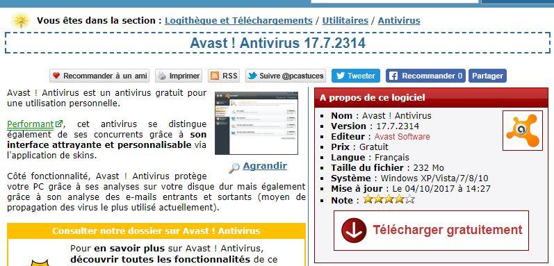AVAST FREE6 01NET TÉLÉCHARGER