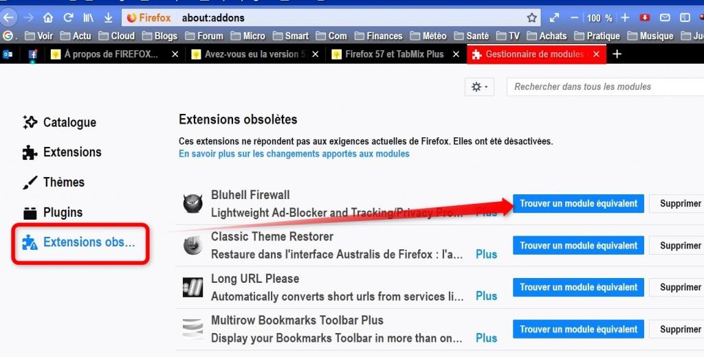 Firefox 57 et TabMix Plus