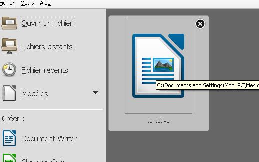 Libre office windows 10 effacer liste fichiers r cents - Libre office pour windows ...