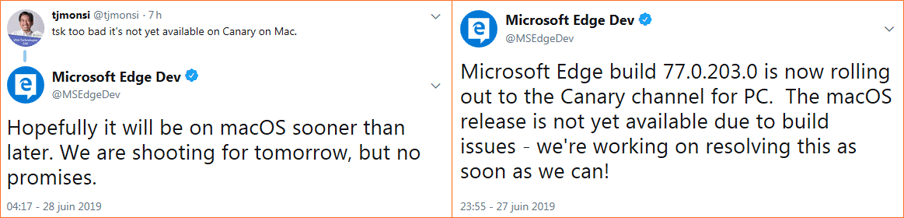 MICROSOFT EDGE DEV MAC - Microsoft gives IT pros the signal