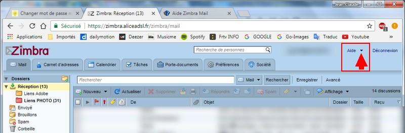 comment changer le mot de passe webmail free