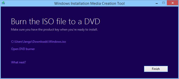 créer un support d'installation pour Windows 8.