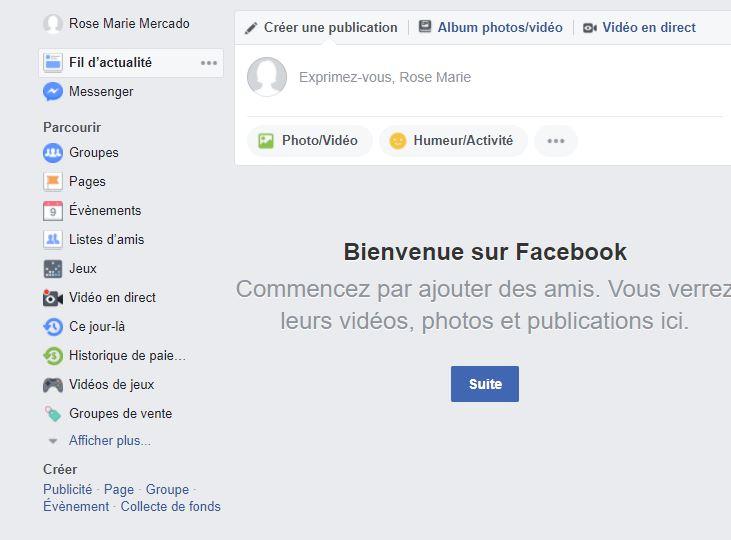 Me connecter à facebook