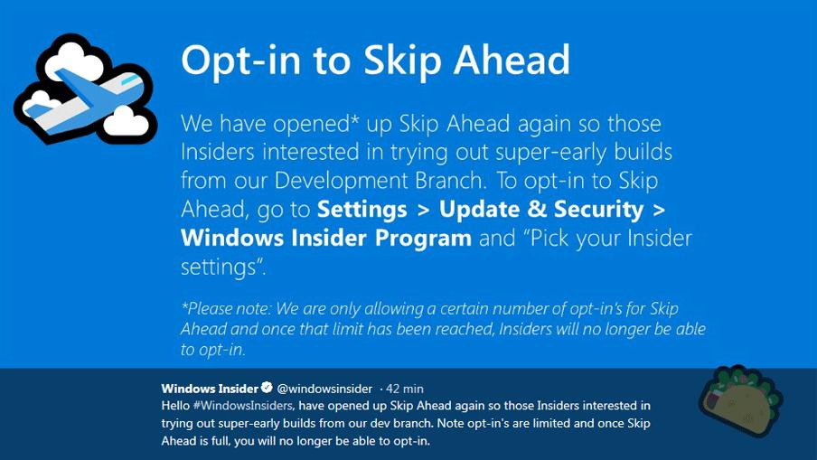 Windows 10 Insider Preview : Builds, Updates et infos