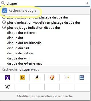 Changer le moteur de recherche par défaut de Firefox (barre d ...