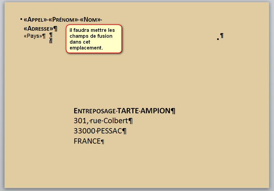 comment indiquer une adresse sur une enveloppe