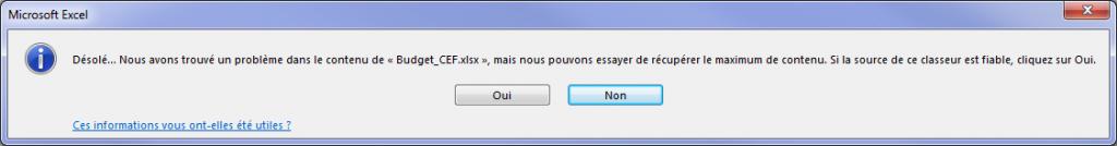 Fixer 'Excel a trouvé du contenu illisible dans nom_fichier .xls' Erreur dans le fichier MS Excel