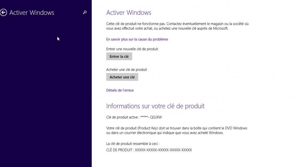 clé de produit windows 8.1 professionnel build 9600