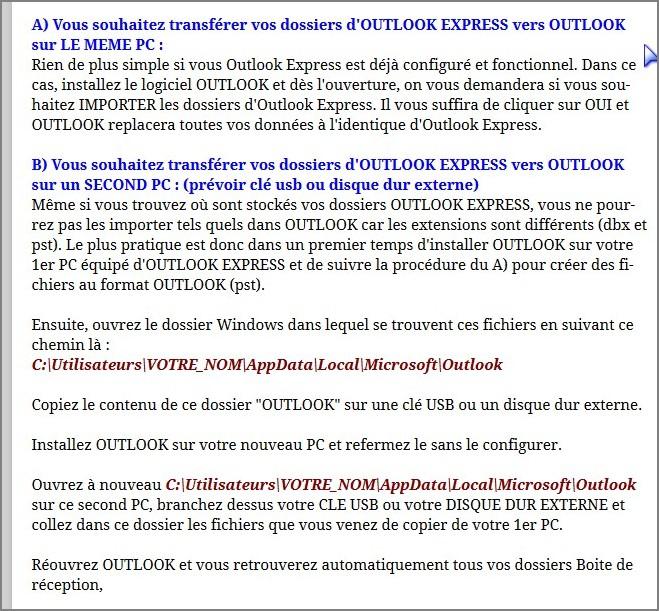 Transfert de messagerie sous windows 10 - Installer office famille et petite entreprise 2013 ...