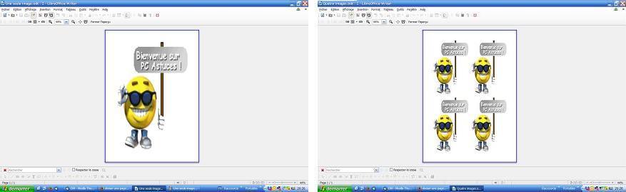 Diviser une page en 4 avec openoffice - Comment faire un sommaire sur open office ...