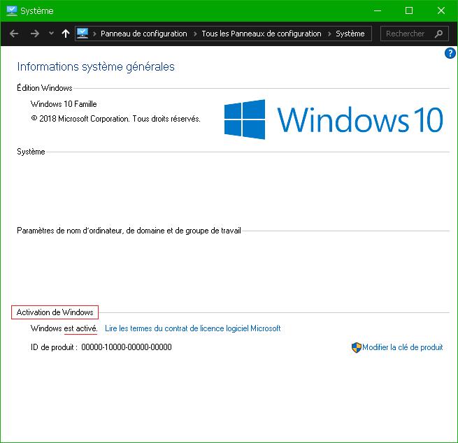 Activer Windows 10